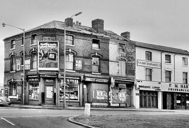 Newtown Row in the 1970s - Photograph reproduced with the kind permission of the late Keith Berry. All Rights Reserved.