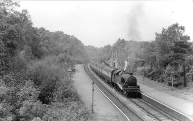 """Streetly Station 1953. Image copyright unknown from """"Park Here"""" blog - http://loco-park.blogspot.co.uk/2011_01_01_archive.html"""
