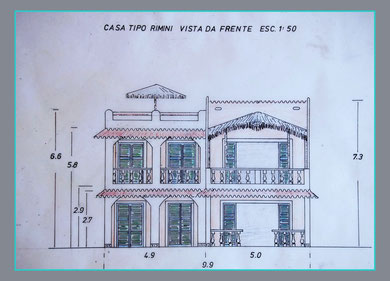 tecnical front view house Nizza