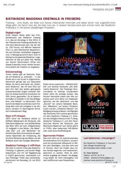 Kundenmagazin 1/2013 der Stadtwerke Freiberg