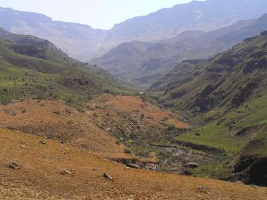 Auf der Fahrt zum Sani Pass