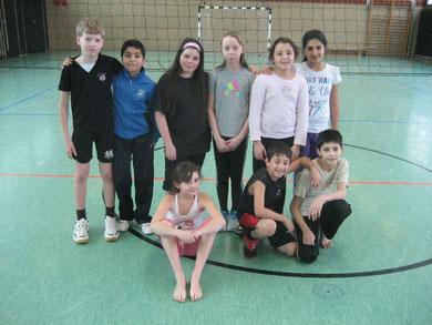 Sieht so der Meister der Westhagener Volleyball Pausenliga an Rgenbogen-Grundschule  aus?