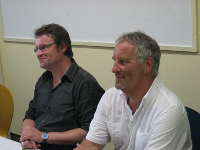 Markus Welzel und Karsten Legen (rechts) bei ihrer  Verabschiedung
