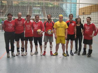 Wolfsburger Sozialvolleyballer beim CVJM Annaberg