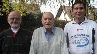 Von links:Klemens Neumann, Georg Kugland und Manfred Wille