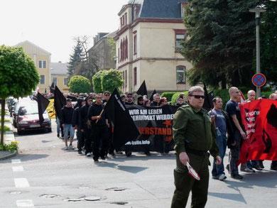 Nazidemo i Freiberg i delstaten Sachsen