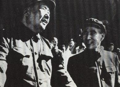 Mao Zedong og partiets daværende chefideolog Lin Piao