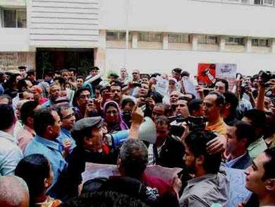Arbejderstrejkeforsamling i Helwan