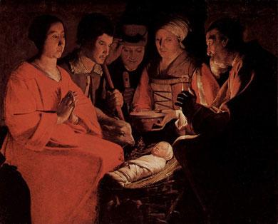 Georges de la Tour/l'adoration des bergers (1644)