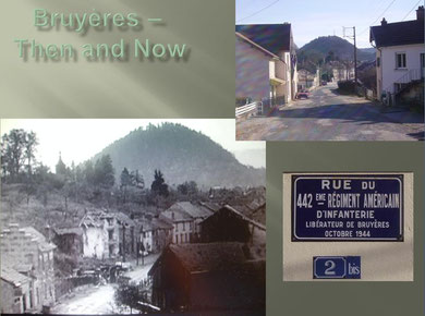Bruyères Then and Now Rue du 442nd RCT