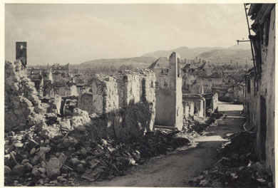 Sigolsheim after the Battle 1944 (Photo courtesy R. Laeuffer via MMCPC)