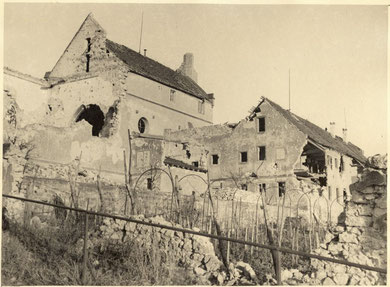 Sigolsheim the monastery after the Battle 1944 (Photo courtesy R. Laeuffer via MMCPC)