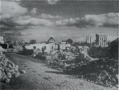 Sigolsheim_Rue du Vallon after the Battle 1944