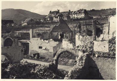 Sigolsheim destroyed with the monastery in the back (Photo courtesy R. Laeuffer via MMCPC)