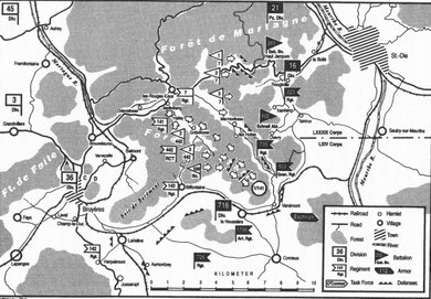 Situation 29.- 30.10.1944 after Banzai attack