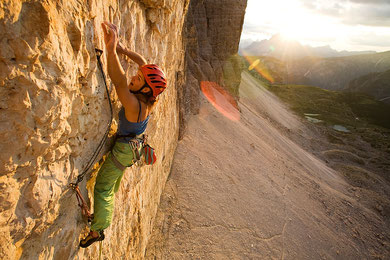 Via Camilotto Pellesier, pitch 4 (8a+), Italy. © Bernardo Gimenez