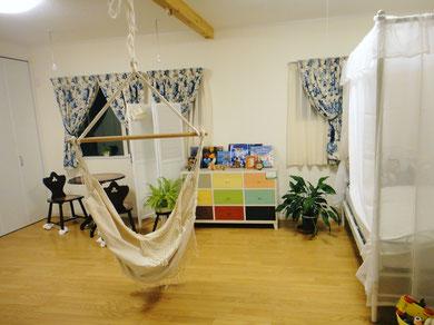 2階 子供部屋 ハンモック ベッド