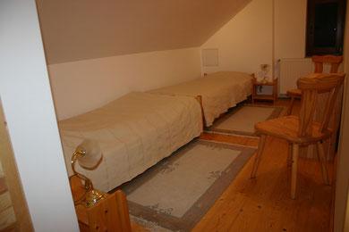 Natur-Zimmer mit zwei Einzelbetten