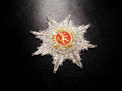 Baden Orden vom Mähringer Löwen Großkreuz gestickter Bruststern