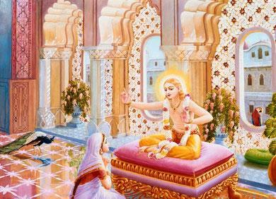 Lord Kapila und seine Mutter Devahuti devi