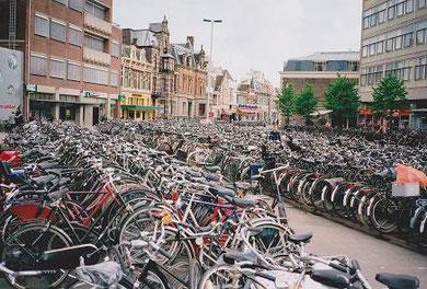 ライデン中央駅駅前 Leiden Central Station, Netherlands