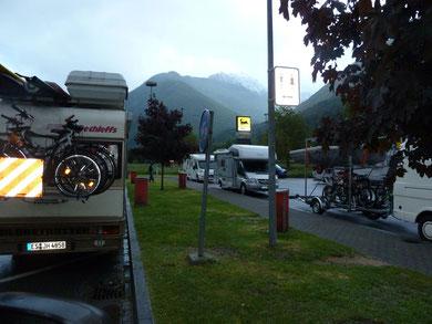 Übernachtung auf dem Rastplatz Campagnola, Schweiz