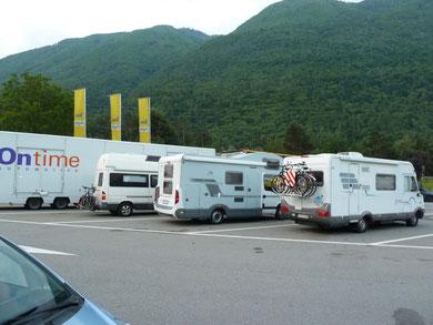 Nachtlager in der Schweiz, bei Bellinzona