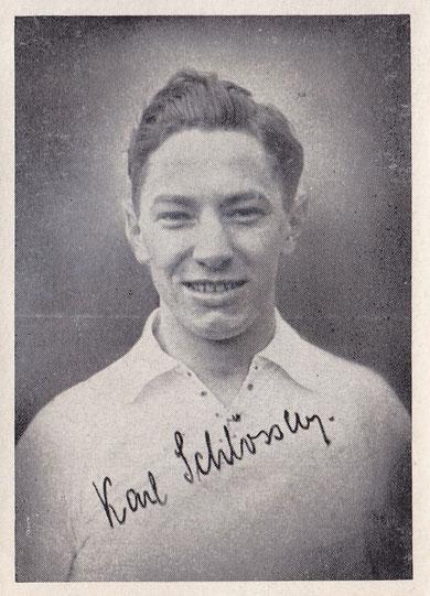 Youngstar Karl Schlösser. Wird 1931 in die Nationalmannschaft berufen!