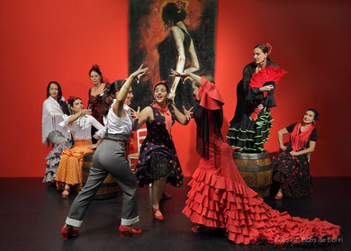 Werbefoto zur Fiesta Flamenca 2014 im Tanzstudio La Fragua/Color-Foto by Boris de Bonn