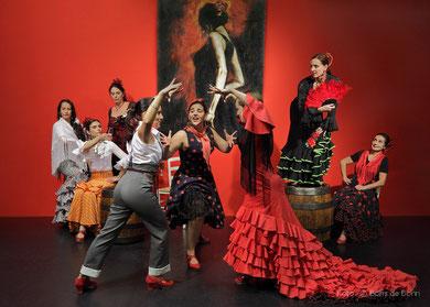 Titelfoto zur Fiesta Flamenca 2014 im Tanzstudio La Fragua/Color-Foto by Boris de Bonn
