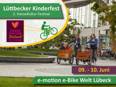 e-motion e-Bike Welt Lübeck auf dem zweiten HanseKulturFestival in Lübeck