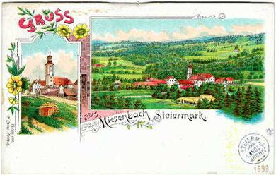 Älteste Ansichtskarte von Miesenbach