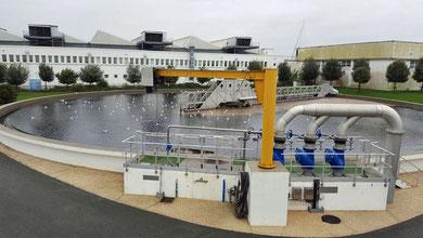 Visite de la station d'épuration de Port neuf le 17 novembre 2015