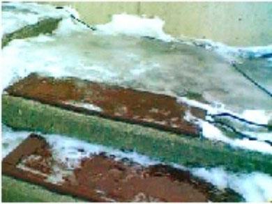 電気融雪ゴムマット
