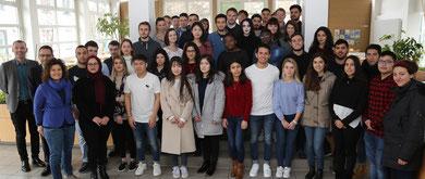 Begrüßung der Austauschstudierenden des Sommersemesters 2018 an der Hochschule Worms durch die Hochschulleitung. Foto: Hochschule Worms