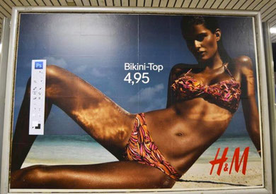 Publicidad con barra de Photoshop