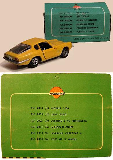 dd03c3cada03 Lista de modelos en el reverso de las cajas Chiqui Cars Serie Metal.