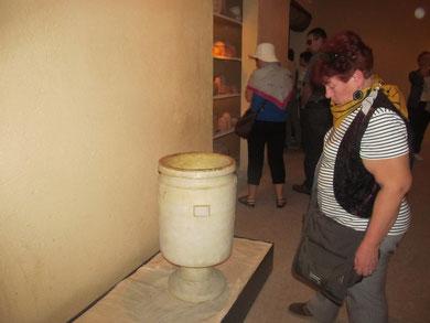 Копия калаля-сосуда для хранения жертвенного пепла в Иерусалимском Храме