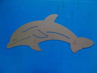 Delfin aus 2mm Chromstahl