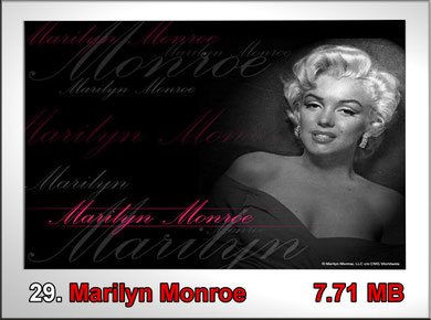 29.Marilyn Monroe