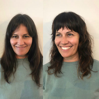 Organic 70s inspired shag haircut from Dorothy Jean Hair in Highgate Hill Qld