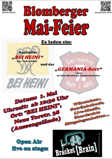 Plakat Blomberger Mai-Party