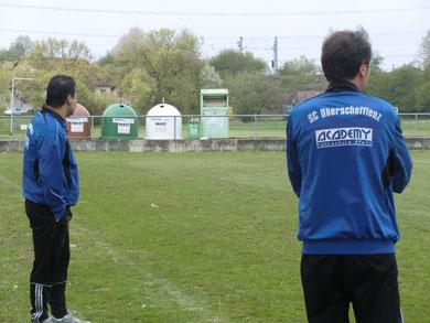 C- Jugend Trainer Yasar Hakan (li.) und Gerd Kritz (re.) stehen vor einer schweren Pflichtspiel-Woche