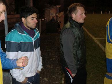 Die Coaches Volkan Alklin und Ulli Binnig