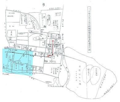 昭和20年8月15日終戦時現在、羽田鈴木町周辺図