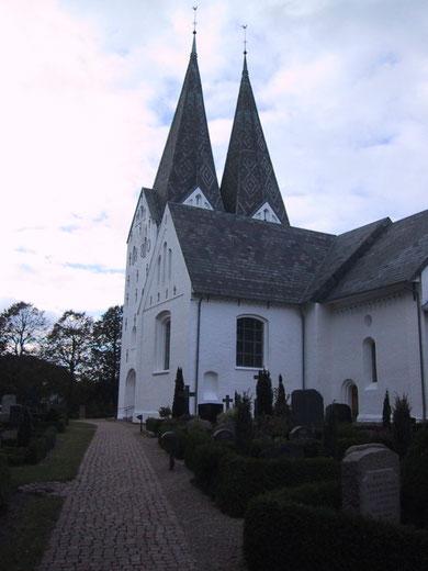 Die Kirche von Broager, dem Geburts- und Wohnort Kristian Rodes