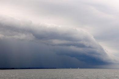 Wolken über Jütlands Ostküste bei Hov- 14. Juli 2012