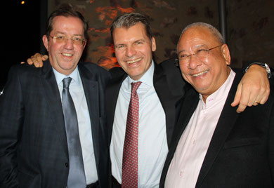 Had a great laugh (l > r): Thomas Reuter of Dachser, Andreas Otto and Jet-Speed's Archie da Silva  /  source photos: hs