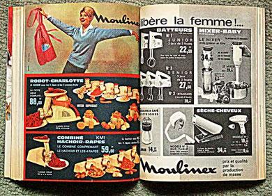 Des appareils ménagers électriques Moulinex (années 50)