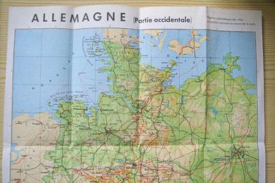 Carte de l'Allemagne de l'Ouest avant la réunification